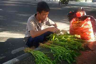 kisah menyentuh anak indonesia yang menjadi tulang punggung keluarga lewat menjual sayuran